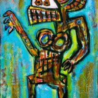 """Deshumanizados nº021"", Acrílico sobre madeira, 30x60 cm [INDISPONÍVEL / UNAVAILABLE]"