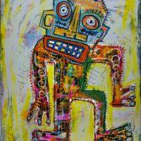"""Deshumanizados nº22"", 2014, Acrílico sobre madeira, 48x58 cm [INDISPONÍVEL/UNAVAILABLE]"
