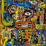 """""""Deshumanizados nº024"""", Acrílico sobre papel e madeira, 61x81 cm [INDISPONÍVEL/UNAVAILABLE]"""