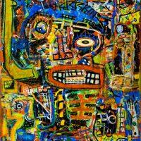 """""""Deshumanizados nº24"""", 2013, acrílico sobre papel e madeira, 61x81cm [INDISPONÍVEL/UNAVAILABLE]"""