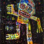 """""""Deshumanizados nº025"""", Acrílico sobre madeira, 40x60 cm [COLECÇÃO CRUZES CANHOTO]"""