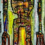 DESHUMANIZADOS N026, Acrílico sobre madeira, 36x116cm