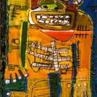 """Deshumanizados nº27"", 2014, Acrílico sobre madeira, 56x122 cm [INDISPONÍVEL/UNAVAILABLE]"