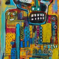 """Deshumanizados nº33"", 2014, Acrílico sobre madeira, 64x122 cm [INDISPONÍVEL/UNAVAILABLE]"