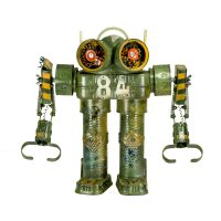 "Nº364 ""Brexit"", 2018, objectos metálicos vários pintados, 34x37x14cm"