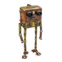 """Nº047 """"Jack"""", 2015, Contador de electricidade, lentes de binóculos, outros objectos metálicos pintados, 21x42x10 cm [INDISPONÍVEL/UNAVAILABLE]"""