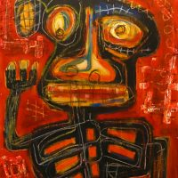 """Deshumanizados nº035"", Acrílico sobre madeira, 61x81 cm [INDISPONÍVEL/UNAVAILABLE]"