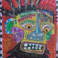 """Deshumanizados Nº036"", 2018, Acrílico sobre madeira, 61x80 cm [INDISPONÍVEL/UNAVAILABLE]"