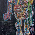 """Deshumanizados Nº039"", 2018, Acrílico sobre madeira, 80x122cm [INDISPONÍVEL/UNAVAILABLE]"
