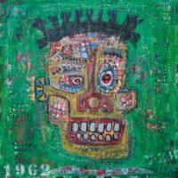 """Deshumanizados Nº040"", 2018, Acrílico sobre madeira, 80x80cm [INDISPONÍVEL / UNAVAILABLE]"