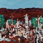 """""""Montanhas Vermelhas"""", 2015, acrílico sobre tela, 70x50 cm"""
