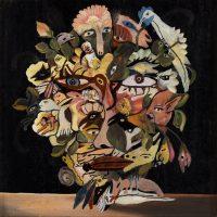 """""""Vaso de Flores"""", 2015, Óleo sobre madeira, 28x28 cm"""