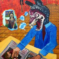 """""""Zombie Lobisomem, o Perguntador"""", 2017, Óleo sobre tela, 50x70cm [INDISPONÍVEL/UNAVAILABLE]"""