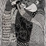 """Sem título"", Série Psico-afroliberdélia, 2018, Artpen sobre papel, 30x42 cm"