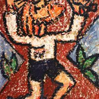 """Cristo na Cruz"", 2017, óleo sobre tela, 30x40cm [INDISPONÍVEL / UNAVAILABLE]"