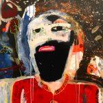"""Sem título"", 2018, Acrílico sobre cartão, 75x105 cm [INDISPONÍVEL / UNAVAILABLE]"