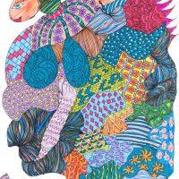 """Arte de Sofá 4"", caneta sobre papel, 19x27cm [INDISPONÍVEL / UNAVAILABLE]"