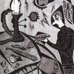 """""""Ourives"""", 2010, Artpen sobre papel, 30x42 cm [COLECÇÃO CRUZES CANHOTO]"""