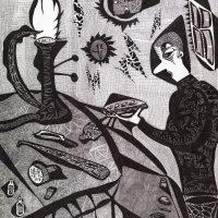 """""""Ourives"""", 2010, artpen sobre papel, 30x42cm [COLECÇÃO CRUZES CANHOTO]"""