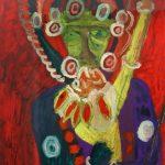 """Chakra Samvara and Consort"", 2007, Óleo sobre papel, 72x86 cm"
