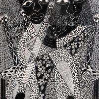"""""""Sem título"""", Série Psico-afroliberdélia, 2018, artpen sobre papel, 30x42cm [INDISPONÍVEL/UNAVAILABLE]"""