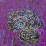 """Deshumanizados Nº052"", 2018, Acrílico sobre madeira MDF, 60x70 cm [INDISPONÍVEL/UNAVAILABLE]"