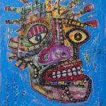 """Deshumanizados Nº044"", 2018, Acrílico sobre madeira MDF, 61x80 cm [INDISPONÍVEL/UNAVAILABLE]"