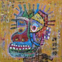 """Deshumanizados Nº050"", 2018, Acrílico sobre madeira MDF, 81x81 cm [INDISPONÍVEL/UNAVAILABLE]"