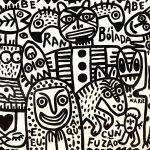 """""""Rambóiada"""", 2018, Esmalte sobre platex, 105x83 cm [INDISPONÍVEL / UNAVAILABLE]"""