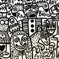 """""""Rambóiada"""", 2018, esmalte sobre platex, 105x83cm [INDISPONÍVEL / UNAVAILABLE]"""