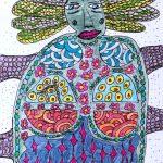 """""""Arte de Sofá 8"""", Caneta sobre papel, 8x12 cm"""