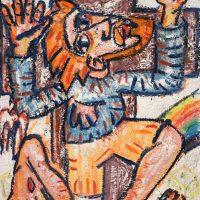 """""""Cristo e a Pomba"""", 2017, óleo sobre tela, 50x65cm"""