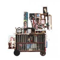 """Sem título"", 2018, assemblage de objectos vários, 100x113x30cm"