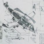 """Skynet — Projecto de Avião-helicóptero"", 1999, Lápis sobre papel, 21x30 cm"