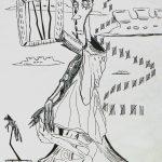 """""""Vida Aprisionada"""", 1999, Artpen sobre papel, 21x30 cm"""