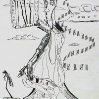 """""""Vida Aprisionada"""", 1999, artpen sobre papel, 21x30cm"""