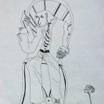 """""""Estudante Obcecado Pela Sabedoria"""", 2000, Artpen sobre papel, 21x30 cm"""