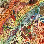 """""""Lagarto"""", 2018, Aguarela sobre papel, 25x35cm [INDISPONÍVEL / UNAVAILABLE]"""