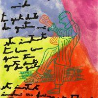 """""""Carlos Paredes — Capas Negras 6"""", 2018, aguarela sobre papel, 10,5× 14,8cm (em moldura de oito)"""
