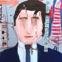 """Sem título"", 2016, Acrílico sobre cartão, 75x105 cm [INDISPONÍVEL / UNAVAILABLE]"