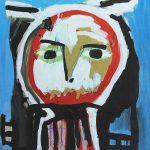 """""""Sem título"""", 2014, Acrílico sobre cartão, 75x105 cm"""