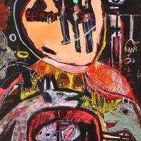 """Sem título"", 2016, acrílico sobre tela, 73x92cm"