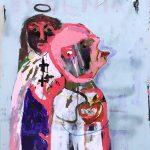 """""""Sem título"""", 2018, Acrílico sobre cartão, 75x105 cm [COLECÇÃO CRUZES CANHOTO]"""