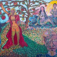 """""""O Ciúme"""" (a partir de Edvard Munch), 2017, Óleo sobre tela, 100x70cm"""