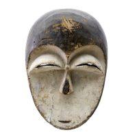"Kwele, ""Máscara"", R. D. Congo, Séc. XX, Madeira, pigmento, 20x25x8cm"