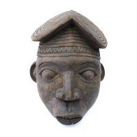 "Bamum, ""Máscara"", Camarões, Séc. XX, Madeira, 20x33x18cm"