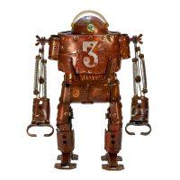 "Nº484 ""Orson"", 2019-03-28, objectos metálicos vários pintados, 23x12x32cm"