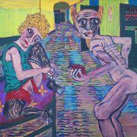 """""""A Porta para a Liberdade"""" (a partir de Egon Schiele), 2018, óleo sobre tela, 100x70cm"""