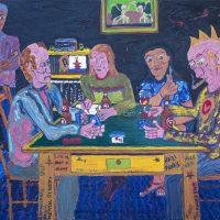 """Os Jogadores de Cartas"" (a partir de Paul Cézanne), 2018, óleo sobre tela, 100x70cm [INDISPONÍVEL / UNAVAILABLE]"