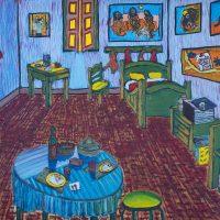 """""""O Quarto de ZMB Gogh"""" (a partir de Vincent van Gogh), 2018, óleo sobre tela, 100x70cm [INDISPONÍVEL / UNAVAILABLE]"""